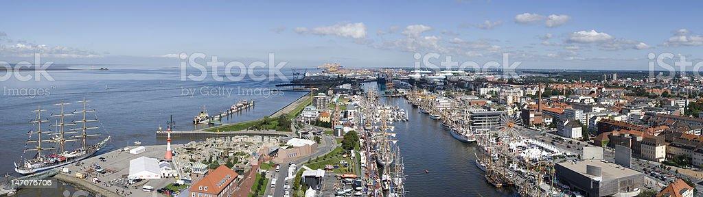 Bremerhaven panorama XXXL stock photo