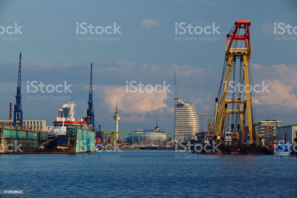 Bremerhaven (Deutschland)-Blick vom Hafen auf die Stadt – Foto