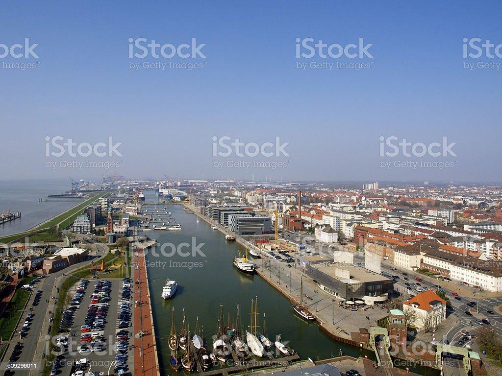 Bremerhaven von Oben stock photo