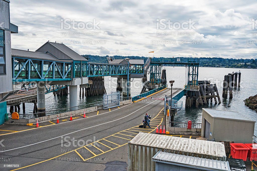 Bremerton Ferry Landing stock photo