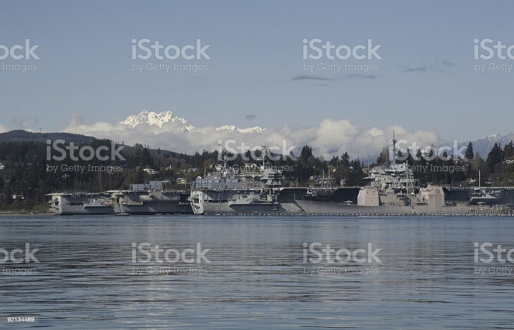 Bremerton Navy Shipyard stock photo