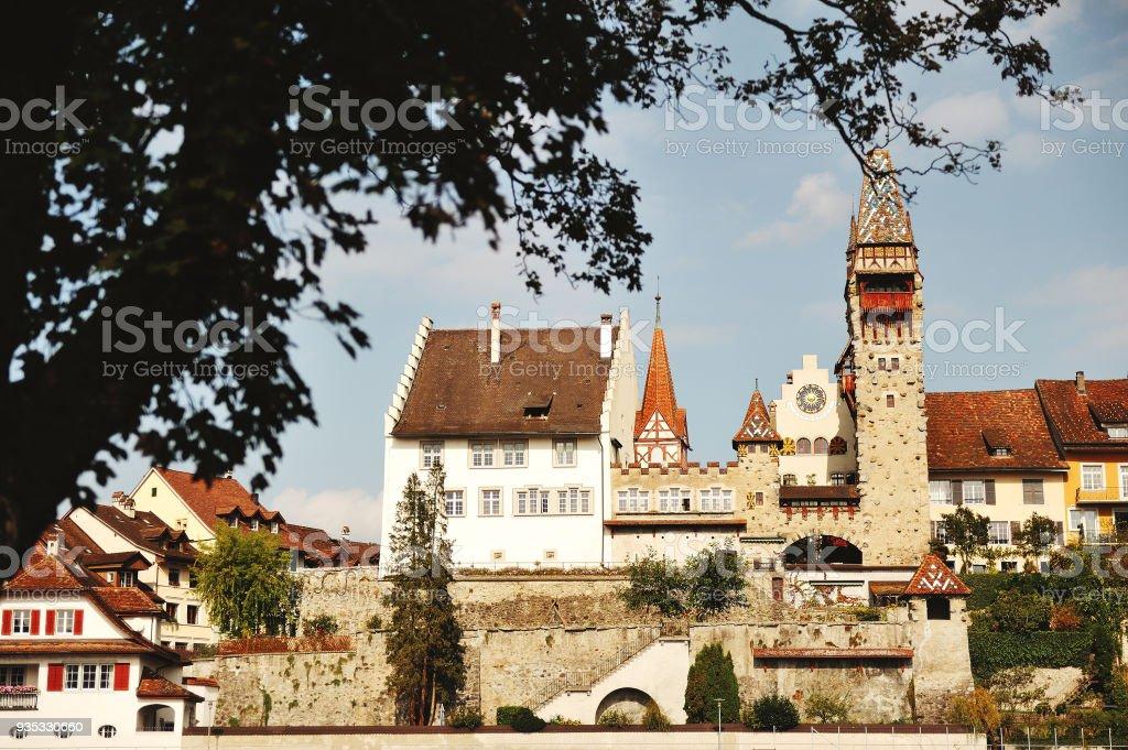 Bremgarten-Stadt in der Nähe von Zürich, Blick auf die Altstadt, Schweiz – Foto