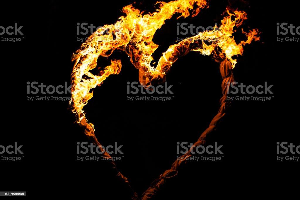 Brennendes Herz – Foto