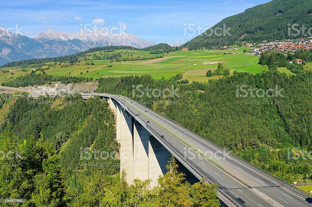 Brennerautobahn royalty-free stock photo