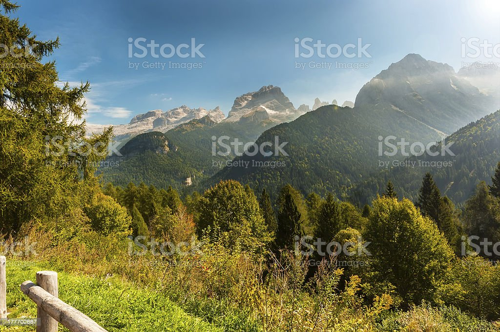 Brenta Group or Dolomites royalty-free stock photo