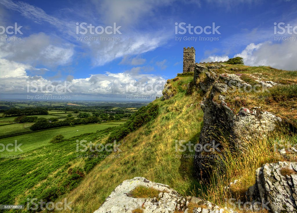 Brentor Church stock photo