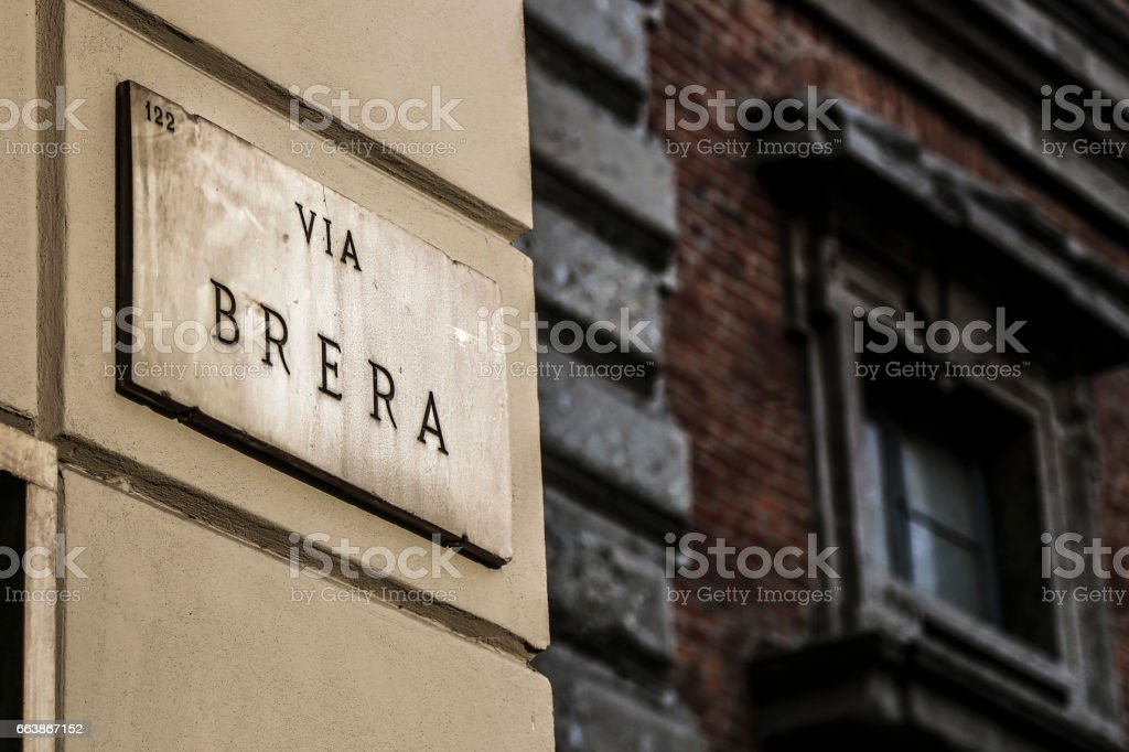 Brera Milan stock photo