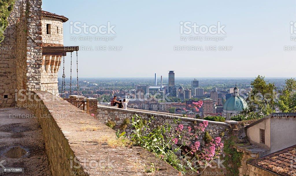 Brescai - The outlook over Brescia from the Castele - foto stock