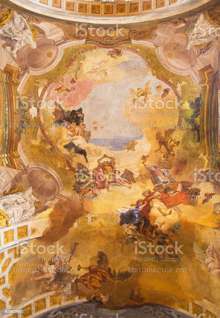 Brescia - fresco in Chiesa di San Faustino e Giovita stock photo