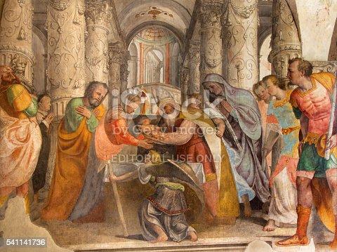 istock Brescia - fresco of Presentation of Jesus in the Temple 541141736