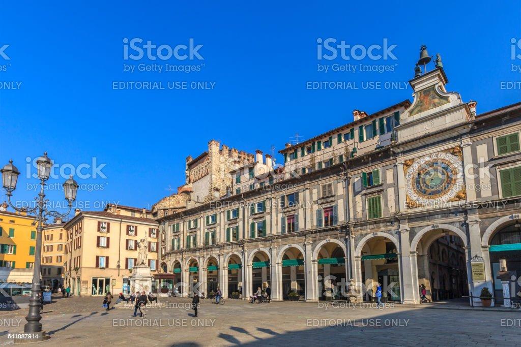 Brescia, Piazza della Loggia - Italy - foto stock