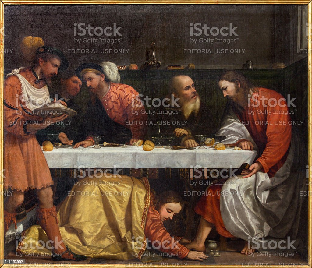 Brescia - Supper in the house of Simon the Pharisee stock photo