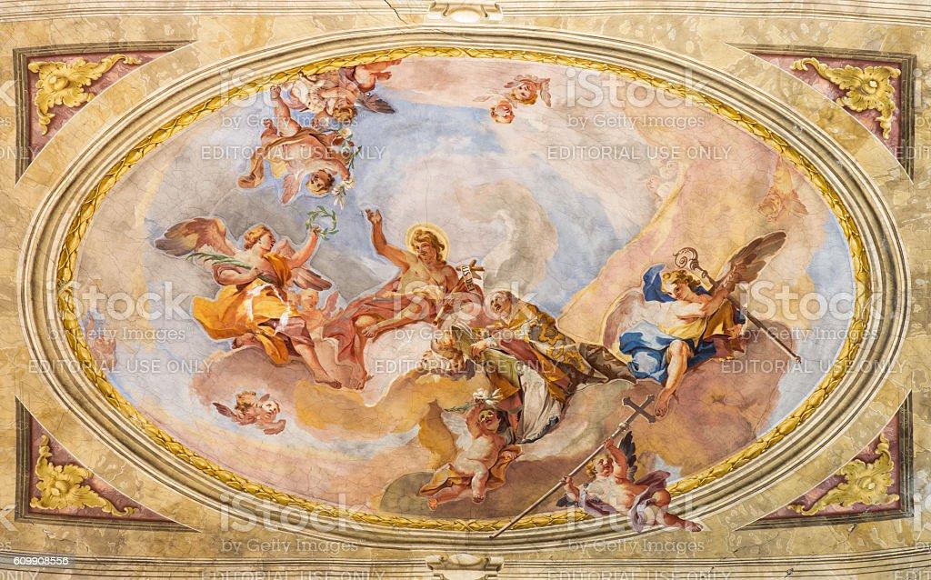 Brescia - The Apotheosis of St. John the Baptist stock photo