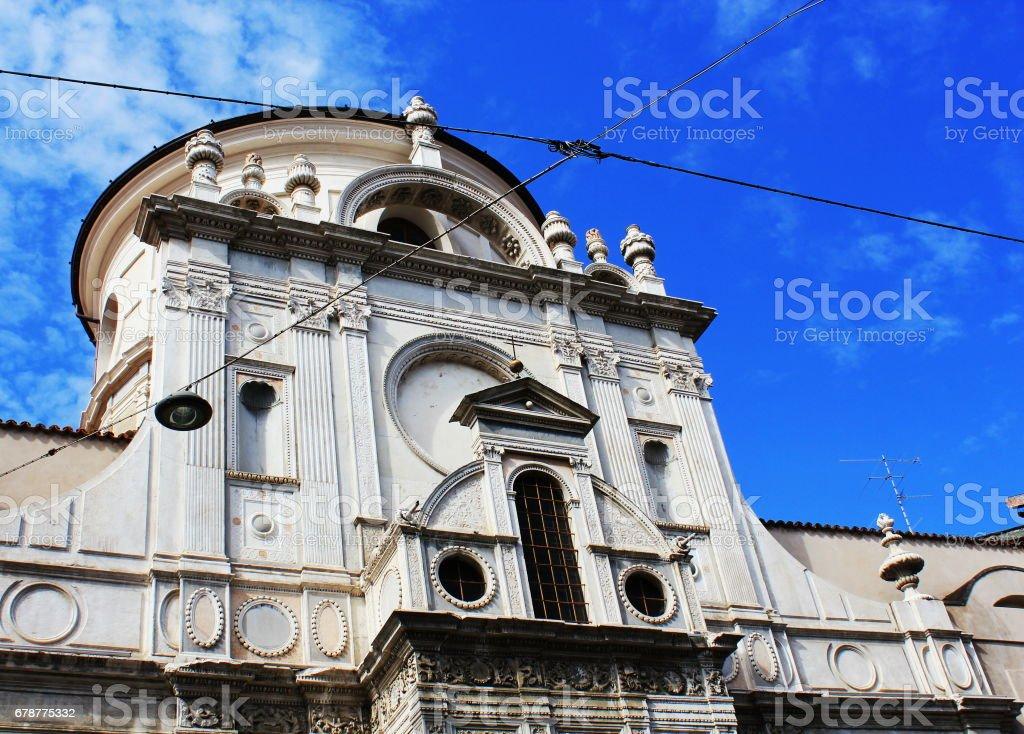 Brescia - The church Chiesa di Santa Maria dei Miracoli stock photo