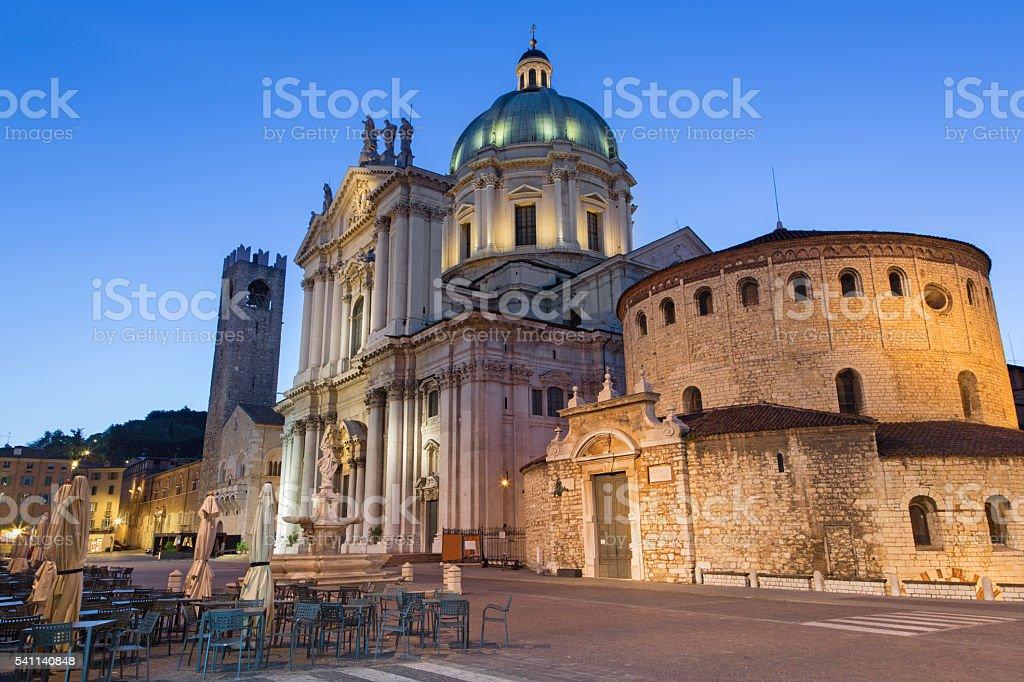 Brescia - The Dom at morning dusk - foto stock