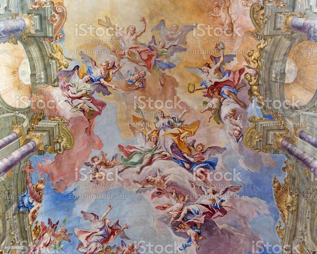 Brescia - The Glory of Santa Eufemia fresco stock photo