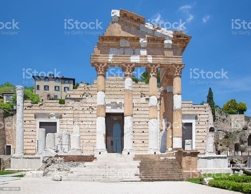 Brescia - The roman ruins of Capitolium - foto stock