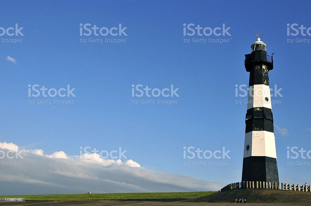 Breskens lighthouse, Holland stock photo