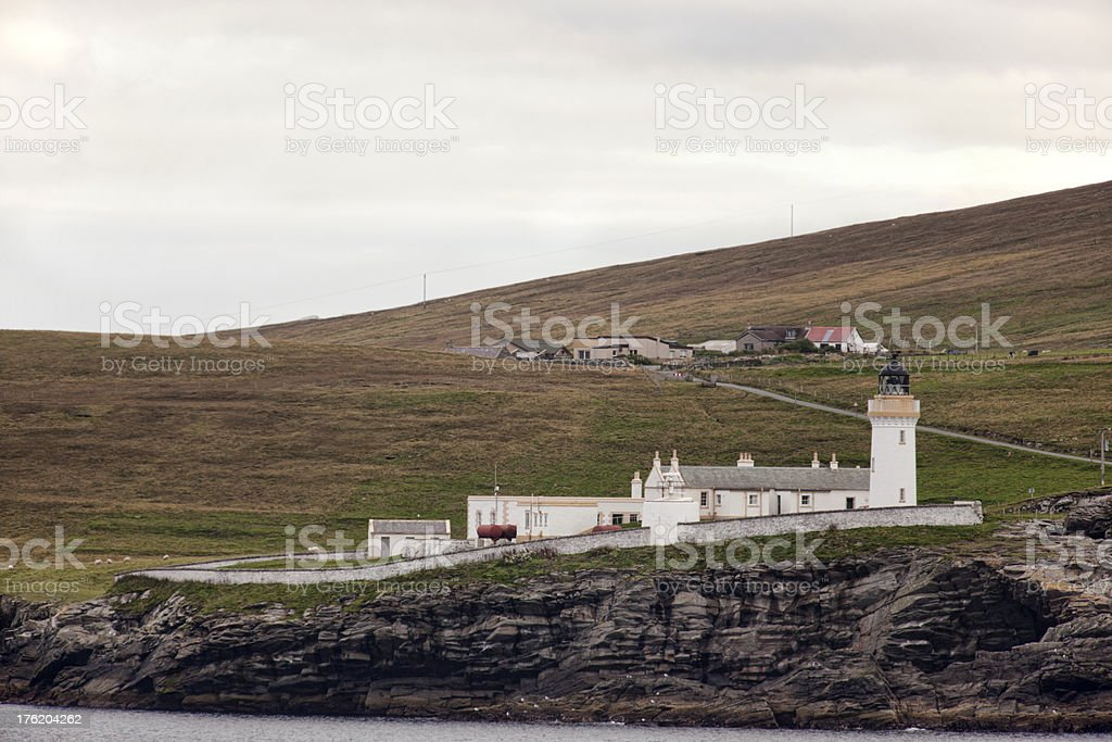 Bressa Light Near Lerwick Shetland Islands stock photo