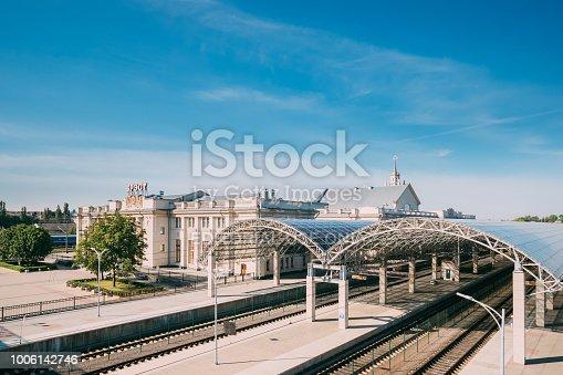 istock Brest, Belarus. Platforms Of Brest Railway Station, Brest Centra 1006142746