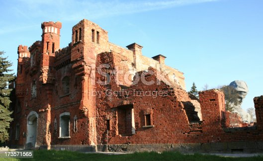 istock Brest Fortress main gate Belarus 173571565