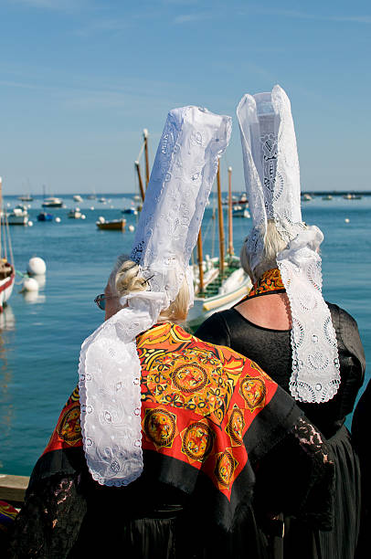 breton women headdress  bonnet stock pictures, royalty-free photos & images