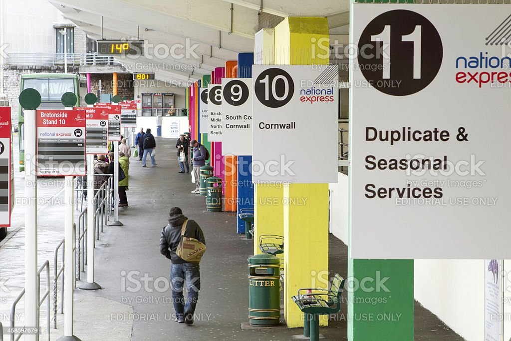 Bretonside Bus Station stock photo
