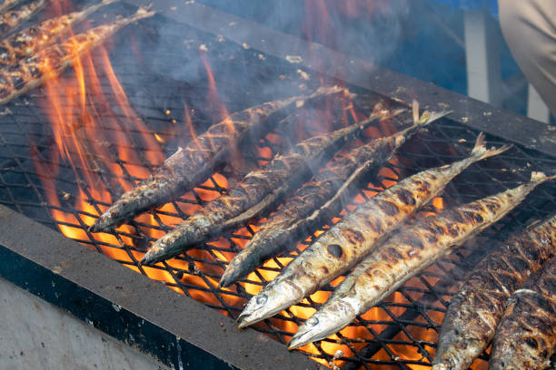 brevoort grill - peixe na grelha imagens e fotografias de stock