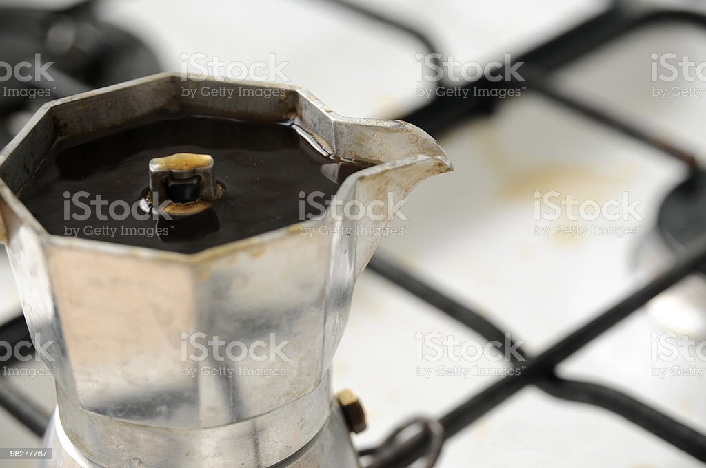 brewed italian espresso coffee royalty-free stock photo
