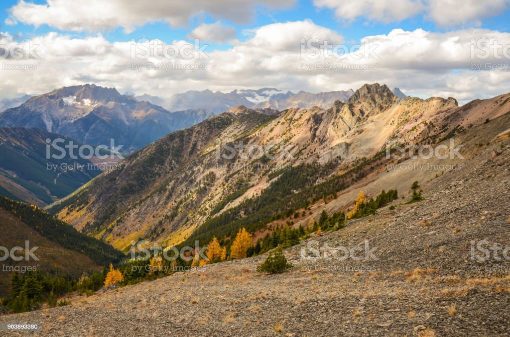 Brewer Creek Landscape in Fall, British Columbia Canada - Royalty-free Autumn Stock Photo