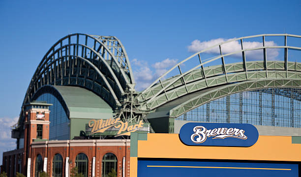 Brewers sign in front of Miller Park
