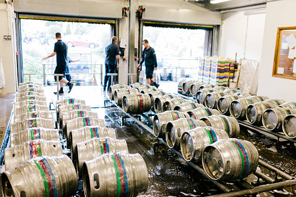 Brewery distribution warehouse stock photo