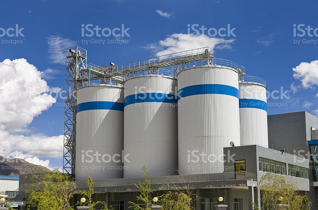 Brewery factory stock photo