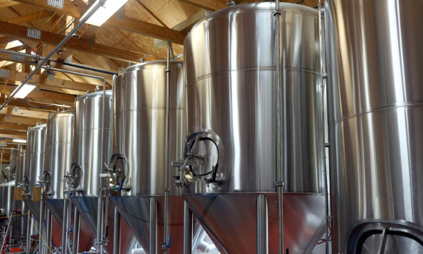brewery tanks - brewery stock pictures, royalty-free photos & images