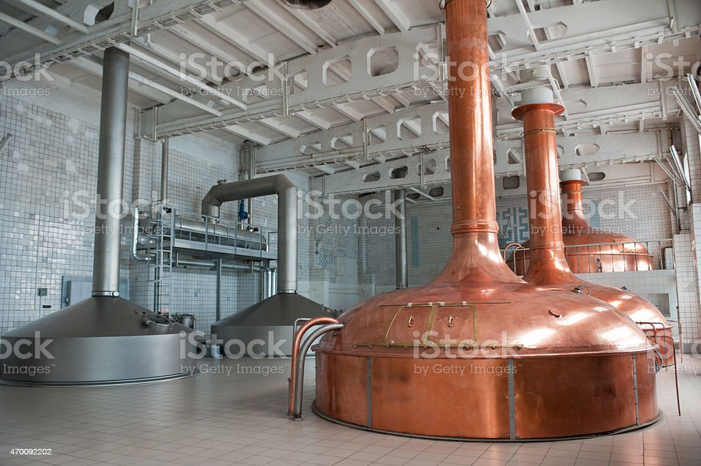 Brewing production stock photo