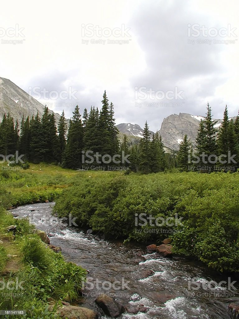 Brewing Storm Over the Mountains royalty-free stock photo