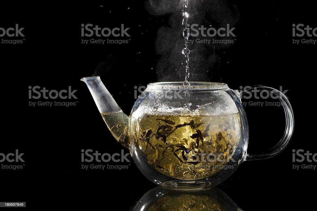 Brewing tea stock photo
