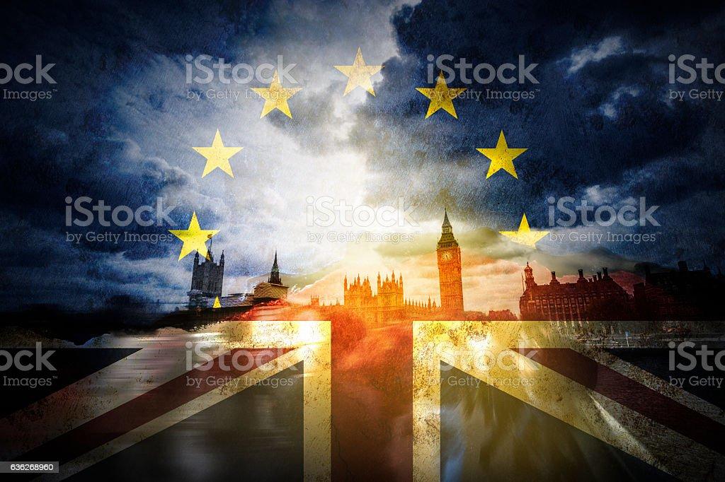 Brexit and the EU European Union - foto stock