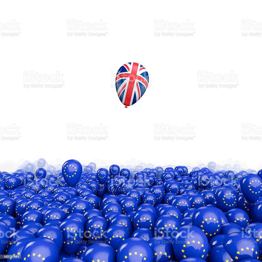 Brexit balloon flight - foto stock