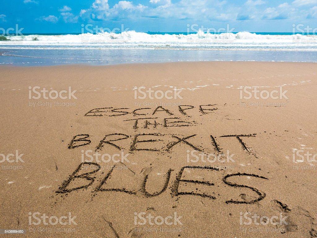 Brexit Blues Vacation post European Referendum stock photo