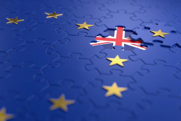 brexit - イギリスは欧州連合から終了します。 - 金融と経済 ストックフォトと画像