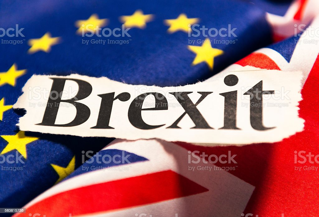Brexit - British Exit from the European Union - foto stock