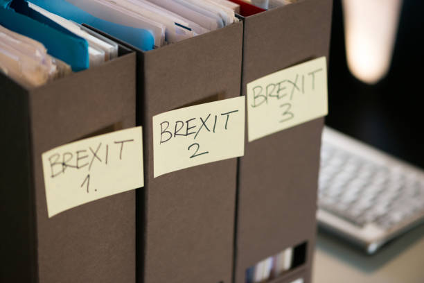 Brexit Business Paperwork stock photo