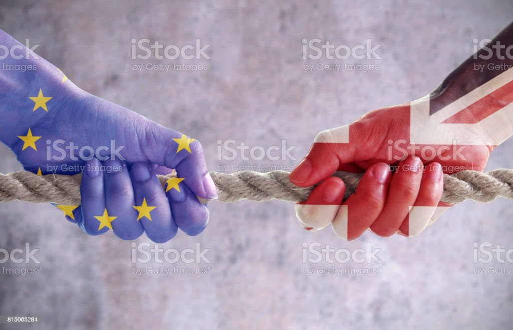 Brexit challenge concept - foto stock