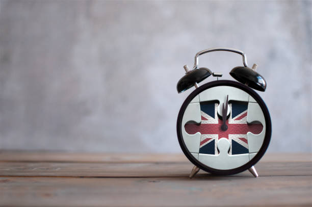 Brexit clock concept stock photo