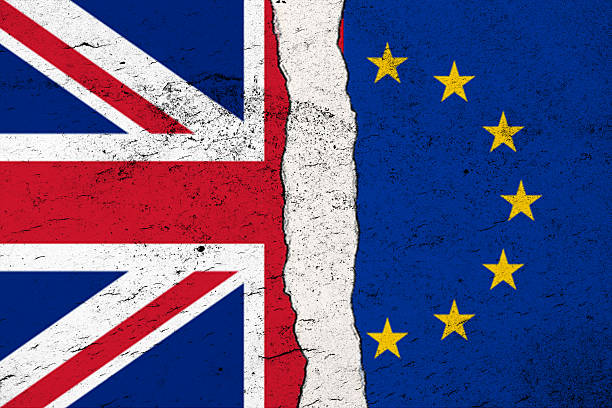 brexit concept - uk leave from european union - detachment stock pictures, royalty-free photos & images