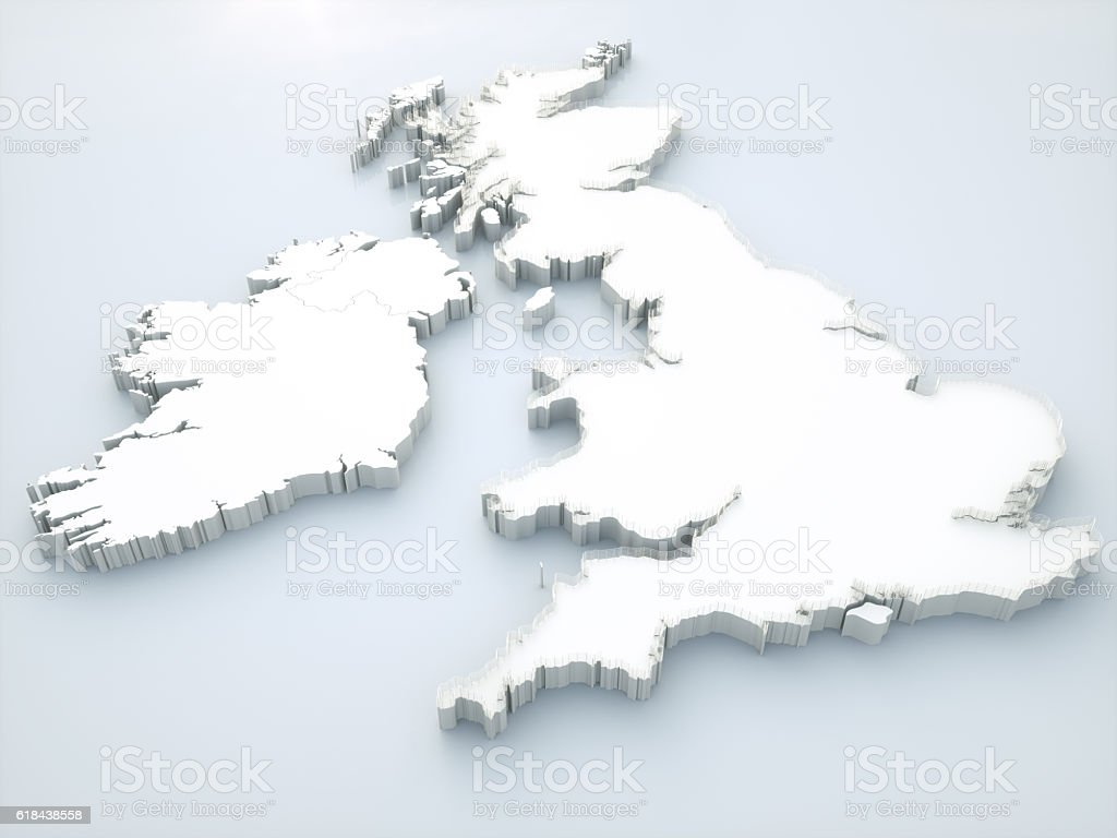 Brexit concept - United Kingdom without fence stock photo