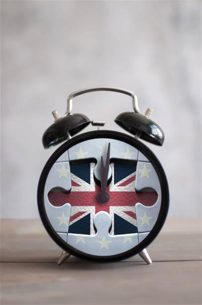 Brexit deadline jigsaw clock stock photo