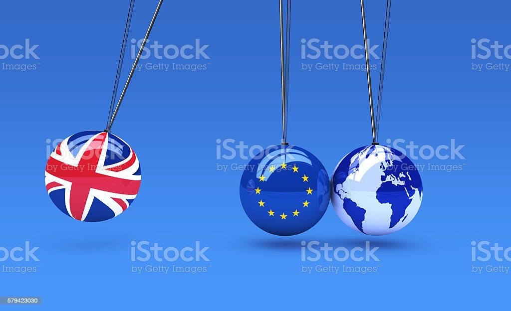 Brexit Effect And Consequences Concept - foto stock
