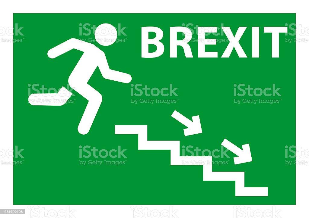 Brexit exit emergency stock photo